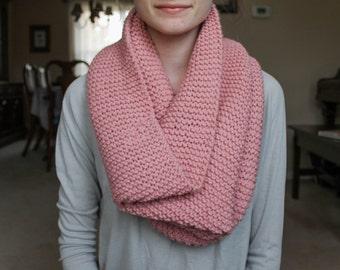 Mauve Knit Infinity Scarf