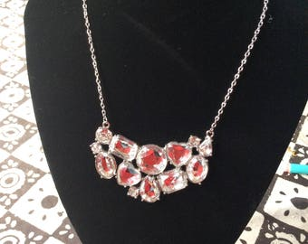 1980s Bling necklace very sparkly perfect for party, festival, wedding.