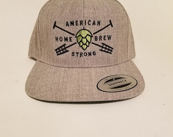 American Homebrew Strong Snapback Cap Hat Craft Beer Hat