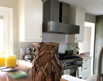 Driftwood Patchwork Curved Vase