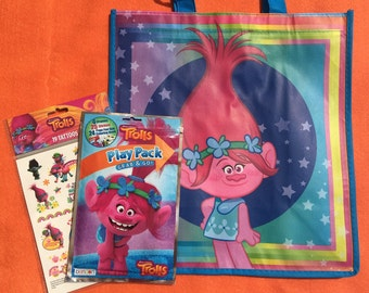 Set of 12 Trolls Party Favor Bags, Poppy Party Favor Bags