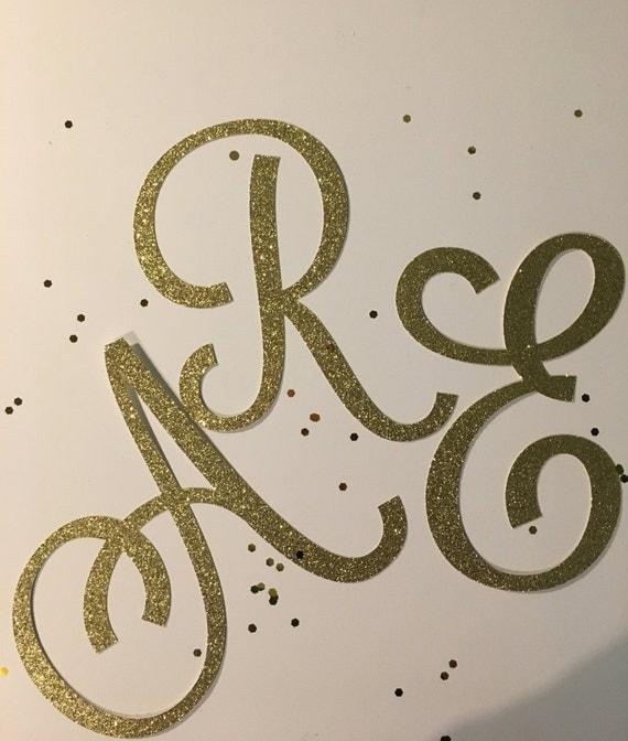 6 glitter cardstock letters custom lettering or numbers uppercase cursive die cut