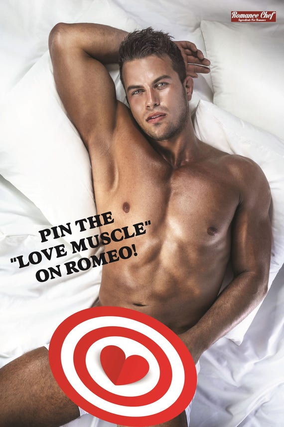 Bachelorette Party Game Pin The Love Muscle On Romeo