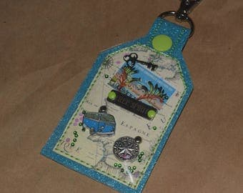 Free Spirit One of a Kind Mixed Media Tag Keychain