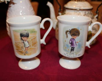 Fran Mar Moppets Irish Pedestal Mugs