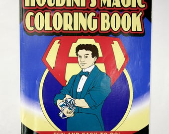 vintage houdinis magic coloring book magic illusion coloring book gifts for kids