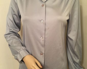 Vintage 1970s/1980s Silver Paula Brooks Button Up Shirt