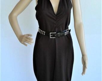 Boutique Europa Black Halter Jumpsuit - Size 10 US, UK 14
