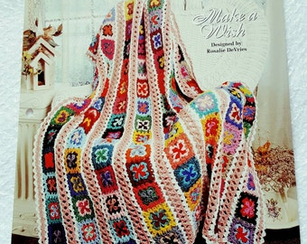 1995 The Needlecraft Shop Make a Wish Crochet Afghan Pattern