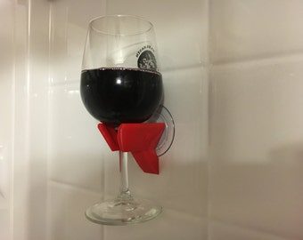 Shower Bathtub Wine Glass Holder   3D Printed