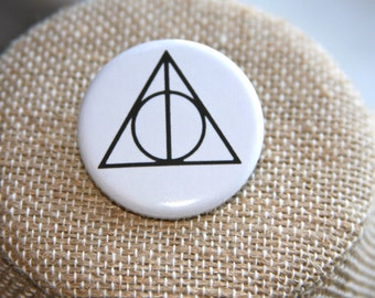 Harry Potter Deathly Hallows Button, Harry Potter Deathly Hallows Pin