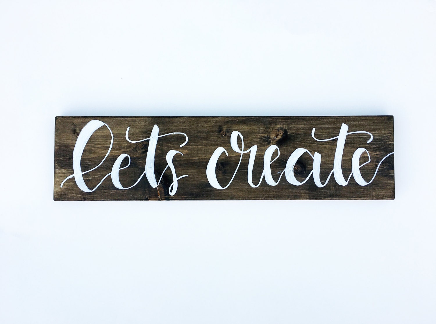 Craft Room Decor Sign Lets Create Rustic Home Decor Wood