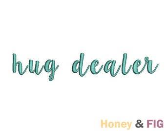 Hug Dealer Embroidery Design-Cute Embroidery-Embroidery Files-Hug Design File