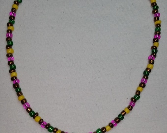 Donut Charm Beaded Necklace