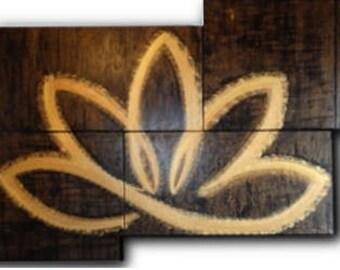 Lotus flower black gold 6 pieces