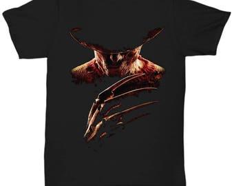 Nightmare on Elm Street Freddy Krueger Horror Movie  shirt Tee T-shirt  S - 5XL  Black 4