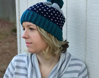 Starry Nights Crochet Beanie - PATTERN ONLY!