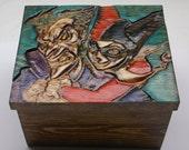 Personalized Joker and Harley Quinn Gift Box Engraved, Birthday, Anniversary, Graduation, Urn, Wedding,  Groomsmen,  Bridesmaids, Gifts