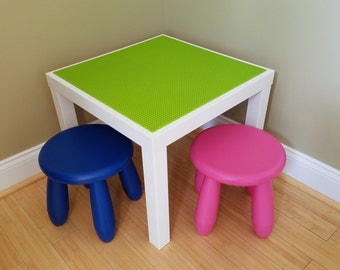 Lego Table/Brick Building Table with Chair
