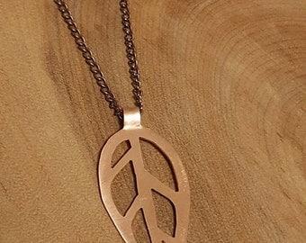 Geometric Copper Leaf