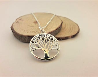 Yggdrasil necklace Sterling Silver chain, viking protection amulet, norse silver necklace, viking jewelry silver, norse mythology necklace