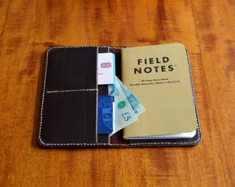 Leather Field Notes and Passport Wallet Cover