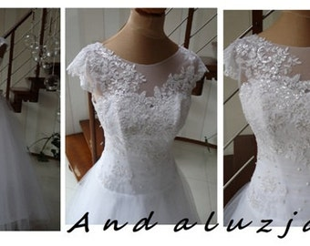 Lace and tulle  wedding dress, Andaluzja