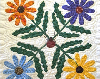 Daisy Quilt Block Pattern for Nature's Bounty Quilt