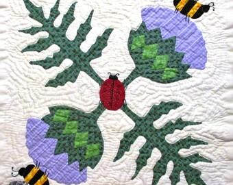 Artichoke Quilt Block Pattern for Nature's Bounty Quilt