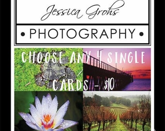 Handmade Photo Cards - Choose any 4 Single Cards - SKU JGPx4