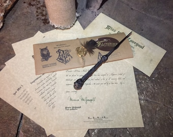 Wizard Acceptance letter and Wand