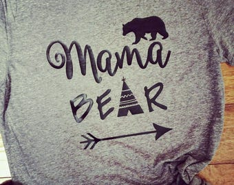 Mama Bear Tee shirt soft comfy unisex fit