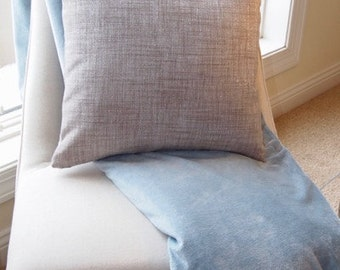 "Custom Shimmer Gray Decorative Throw Pillow Cover 18""x18"", zip closures"