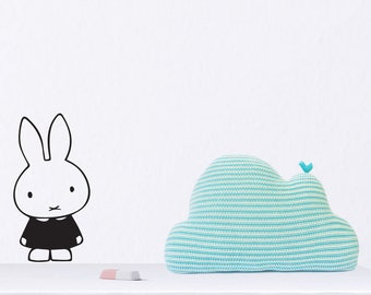 Miffy Wall Decal, Miffy rabbit wall decal, Miffy sticker, Pet Bunny Wall Sticker, Wall Art for nursery room, Rabbit Decal, Removable Decal