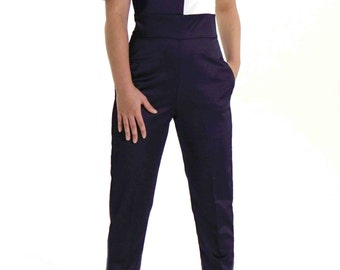 MUSE: Navy and white combination with epaulettes.