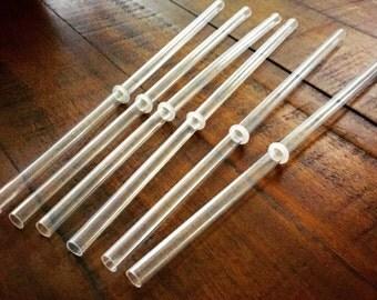 "Set of 10 9"" BPA - Free Clear Acrylic Straws"