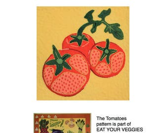 Tomatoes - part of the Eat Your Veggies wool applique quilt