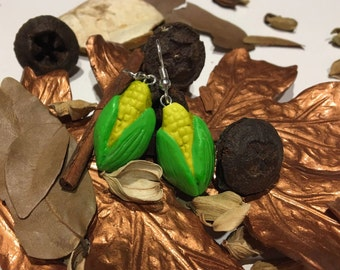 Thanksgiving Corn Cob Earrings