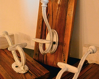 coat HANGER hook HANGER COAT RACK set 4 wood handmade antique wood design