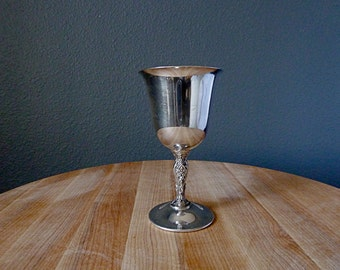 Vintage WM Rogers Silver Plated Wine Goblet