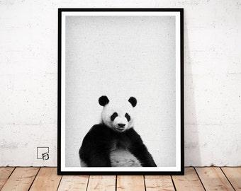Panda Print, Panda Woodland Poster, Animal Print, Panda decor, Panda printable, Panda Download, Panda Nursery Decor, Panda Wall Art