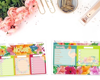 Planner Notes Sticker Kit (June Colors) || for use with ERIN CONDREN LIFEPLANNER™.