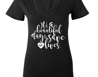 greys anatomy shirt greys anatomy gift nurse shirt gift for nurse it's a beautiful day to save lives shirt gift for greys anatomy fan mom