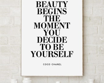Coco Chanel Quote Printable Poster, Download Printable PDF and JPG