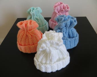 crochet newborn hat, crochet baby hat, baby shower gift