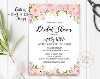 Bridal shower invitation rustic, Bridal shower invitation, bridal shower invites, bridal shower invitation template - US_BI0305b