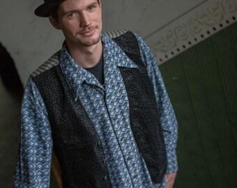 True vintage 90s jacket M L vest pattern mix mixed pattern