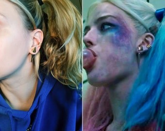 Spike Faux Ear Gauge Screen Accurate Harley Quinn Suicide Squad Inspired