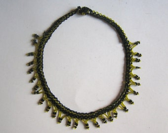 vintage beadwork necklace