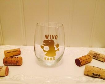 Winosaur Wine Glass